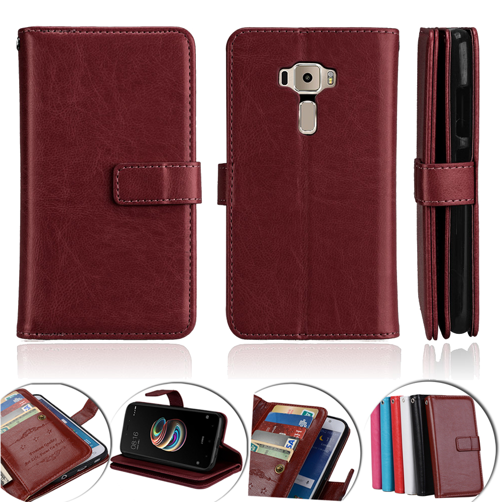 Luxury Wallet Cover <font><b>For</b></font> <font><b>Asus</b></font> <font><b>Zenfone</b></font> <font><b>3</b></font> <font><b>ZE520KL</b></font> <font><b>Case</b></font> <font><b>Flip</b></font> Leather Phone <font><b>Case</b></font> <font><b>For</b></font> <font><b>Asus</b></font> <font><b>Zenfone</b></font> <font><b>3</b></font> <font><b>ZE520KL</b></font> Cover Stand Holder Capa image