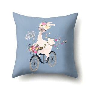 Image 5 - 45Cm 만화 알파카 라마 커버 의자 소파 베개 케이스 베이비 샤워 웨딩 파티 용품 생일 파티 장식