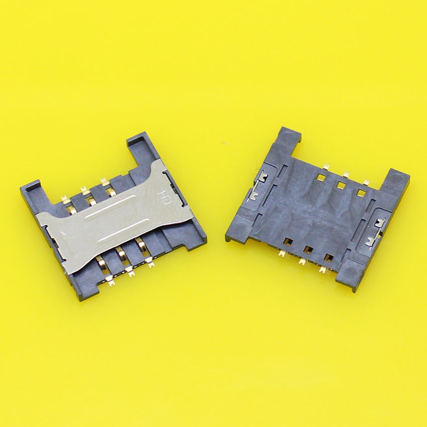 2pcs/lot Brand New sim card socket reader holder tray slot connector replacement,size:16.5*16.5mm.