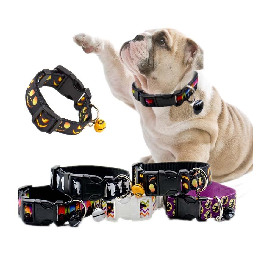 Uusin Halloween Pet Dog Collars Säädettävä Nylon Bat Skeleton - Lemmikkieläintarvikkeet