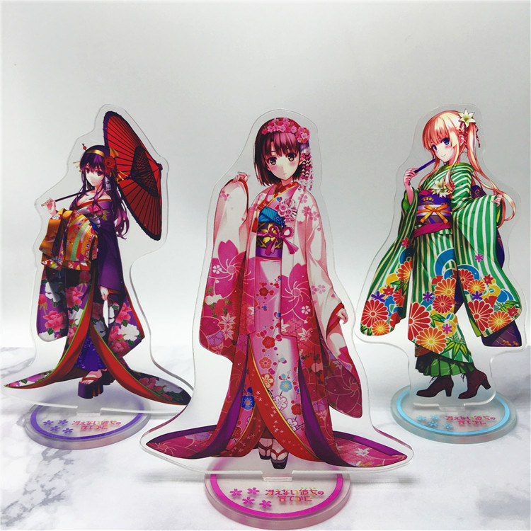 Anime saenai heroine no sodate-kata Acrylic Stand Model Toys Action Figure Pendant toy 15cm double-side gift