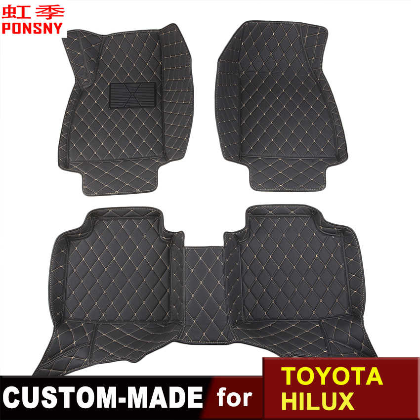 Car Floor Mats Customized for Toyota Hilux 3D Floor Carpets Custom-made Auto All-covered Foot Mats