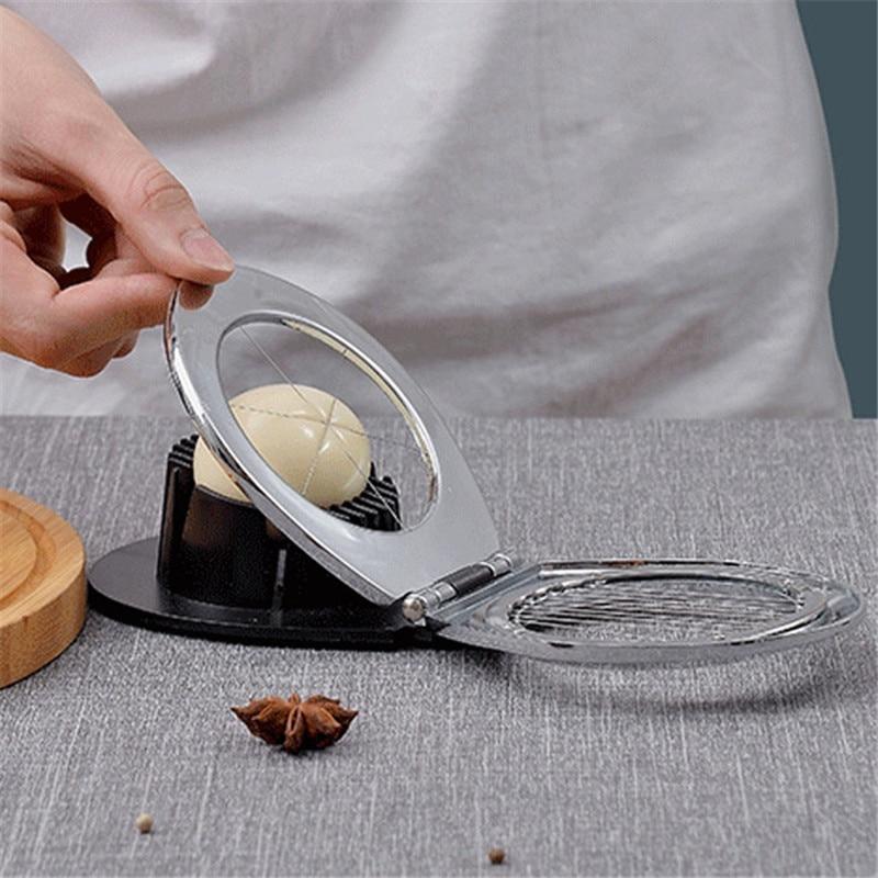 Multifunction Food Grade Stainless Steel Egg Slicer Eggs