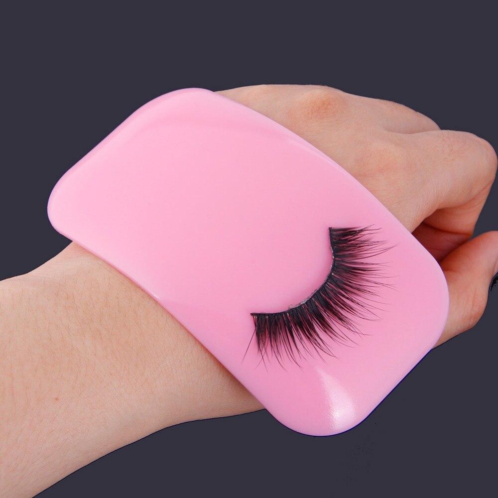 e58c62bbee9 1Pcs NEW Reusable Pink Silicone False Eye Lashes Holder Pad Holder ...