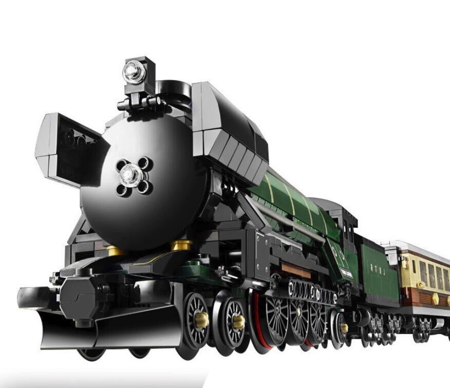 21005 21046 1085Pcs Technic Series Emerald Night Train Model Building Kits Block Bricks Children Toys 10194