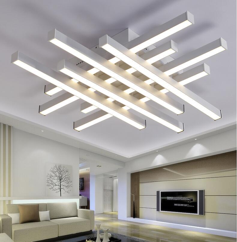 Işıklar ve Aydınlatma'ten Avizeler'de Modern Avizeler lampara techo beyaz siyah gövde yaratıcı avizeler aydınlatma yatak odası oturma odası için lampadario led title=