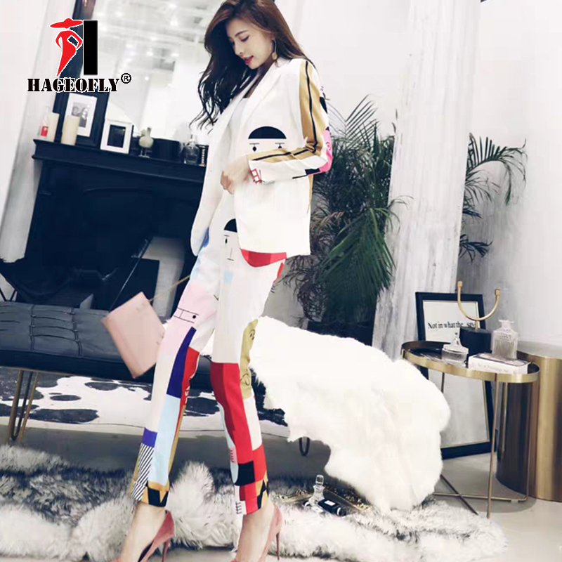 Image 3 - New Designer High Quality Runway White Two piece Suit One Button 