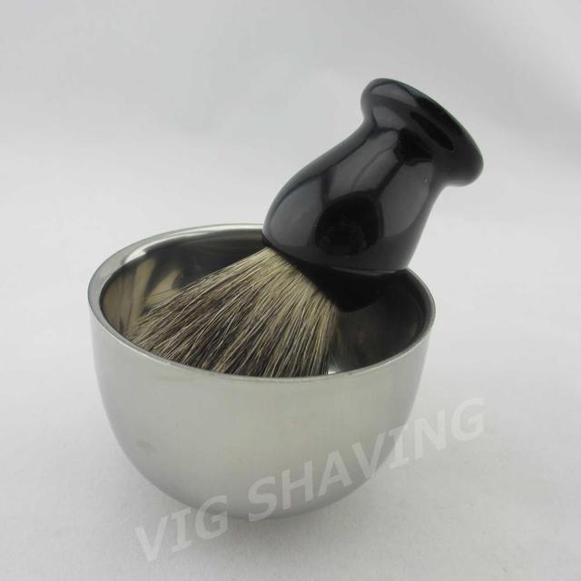 Shaving set Stainless steel  shaving bowl shave cup Mix badger shaving brush resin handle ST201MIFE
