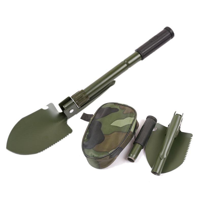 Multifunções militar portátil dobrável pá de acampamento sobrevivência pá espátula dibble picareta emergência do jardim ao ar livre ferramenta multitool