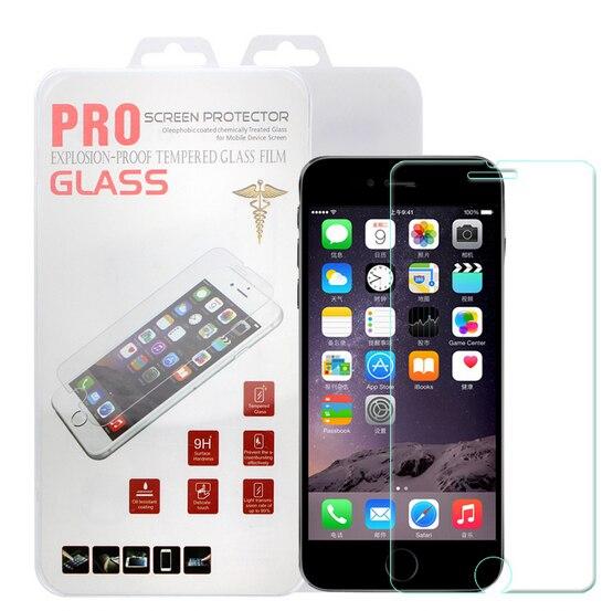 imágenes para 100 unids/l explosión shatter prima de cristal templado protector de pantalla para iphone 5 5s se 6 6 s 7 plus embalaje al por menor