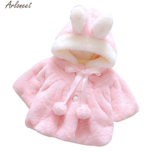 ARLONEET Coat Baby Clothes Infant Girls Fur Winter Warm Coat Cloak Jacket Thick Warm Clothes E30 Jan15