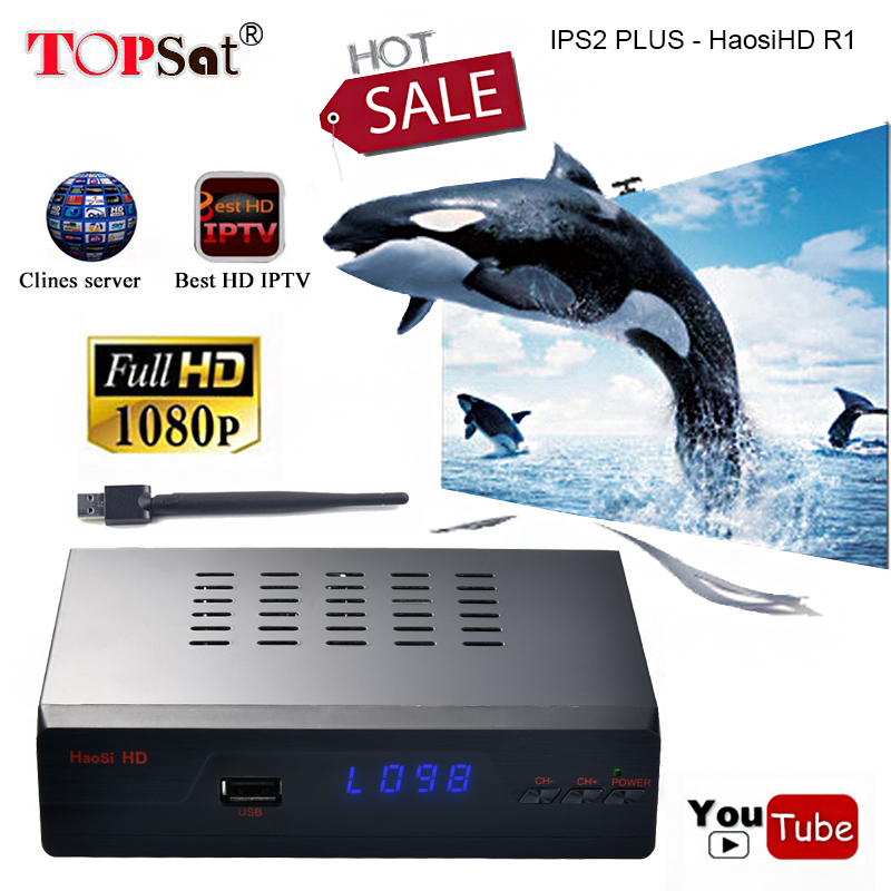 DVB-S2 HD IPS2 PLUS - HaosiHD R1 Satellite TV Receiver Support PowerVu Biss Key clines Youtube Youporn iptv Set Top Box decoder купить в Москве 2019