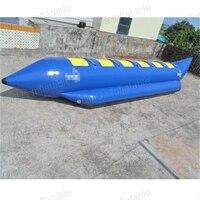 4 сиденья надувная лодка для серфинга одна трубка игра надувная вода надувная буксируемая лодка «банан» Рыбная трубка для Advanture