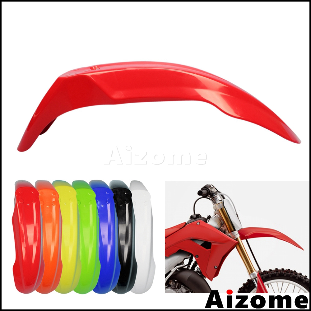 Universal Enduro Off Road Red Front Fender Front Mud Guard For Honda XR <font><b>CRF</b></font> 230 250 <font><b>450</b></font> 650 Motocross ABS <font><b>Plastic</b></font> Mudguard image