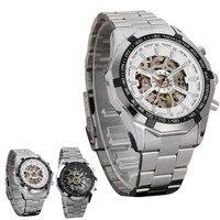 Nueva lista de Los Hombres Relojes de Marca de lujo Mecánico Automático de Cuerda automática Grabado Hueco reloj de pulsera Deportivo masculino al por mayor caliente