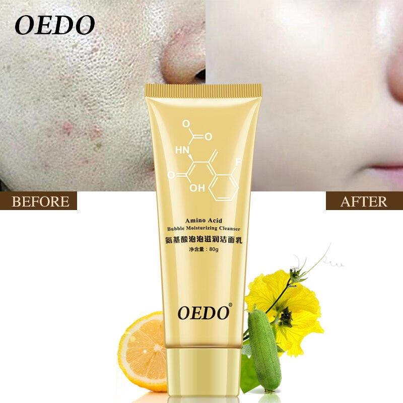 Acide aminé bulle hydratant nettoyant pour les pores du visage produit de lavage du visage soins de la peau Anti-âge traitement des rides nettoyage