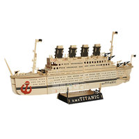 Titanic Wooden simulation super large transport yacht sail ship model diy assembled toy wood cruise warship sailing boat gift
