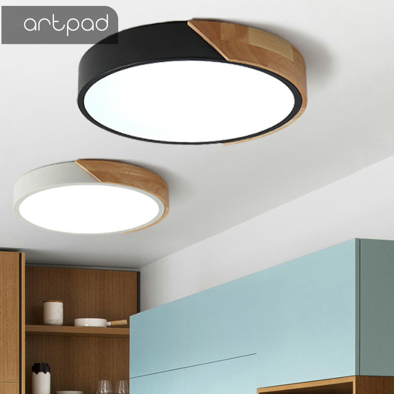 Us 41 72 22 Off Artpad Led Lights Drop Ceiling Ultra Thin Round Nordic Ceiling Lights Kithcen Light Fixtures Luminiare Hanging Lighting Lamp In