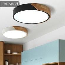 Artpad Led Lights Drop Ceiling Ultra-thin Round Nordic Kithcen Light Fixtures luminiare hanging Lighting lamp