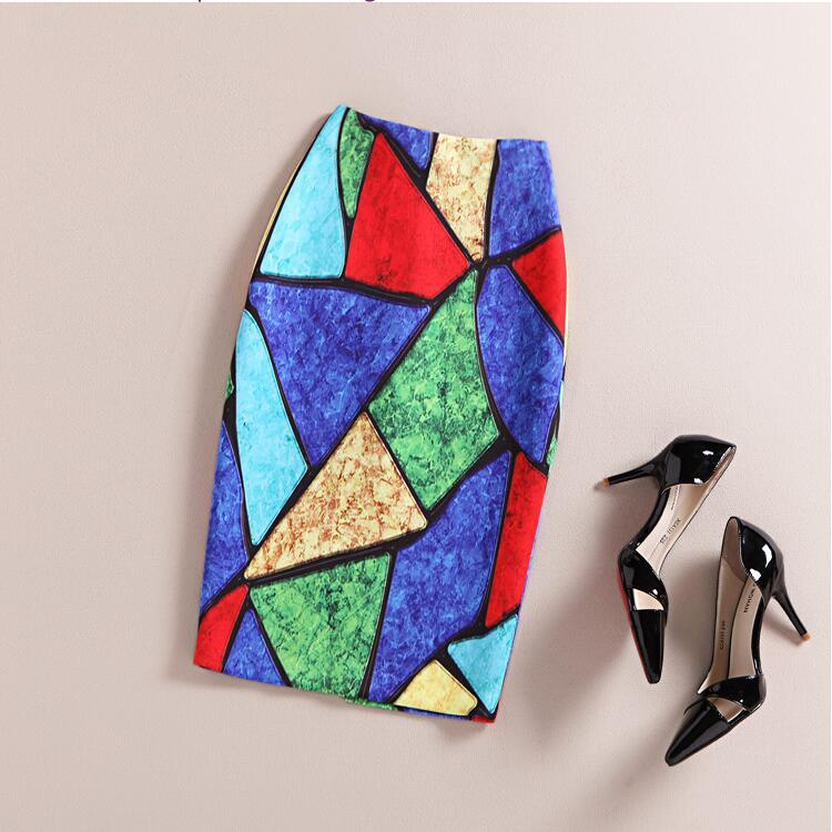 Moda para mujer 2016 Nueva impresión Oficina Falda Primavera Verano - Ropa de mujer