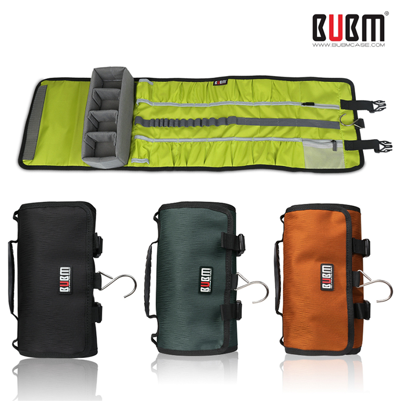 BUBM for Go Pro Accessories Large Canvas Travel Roll shoulder Bag Protective Case Rollup for GoPro5 Hero4/3+/3 sj4000 xiaomi go travel travel accessories 332 dg