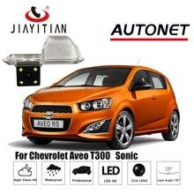 T300 JiaYiTian câmara de visão traseira Para Chevrolet Aveo/Sonic CCD/Night Vision/Backup Da Câmera/Câmera Reversa placa de licença da câmara