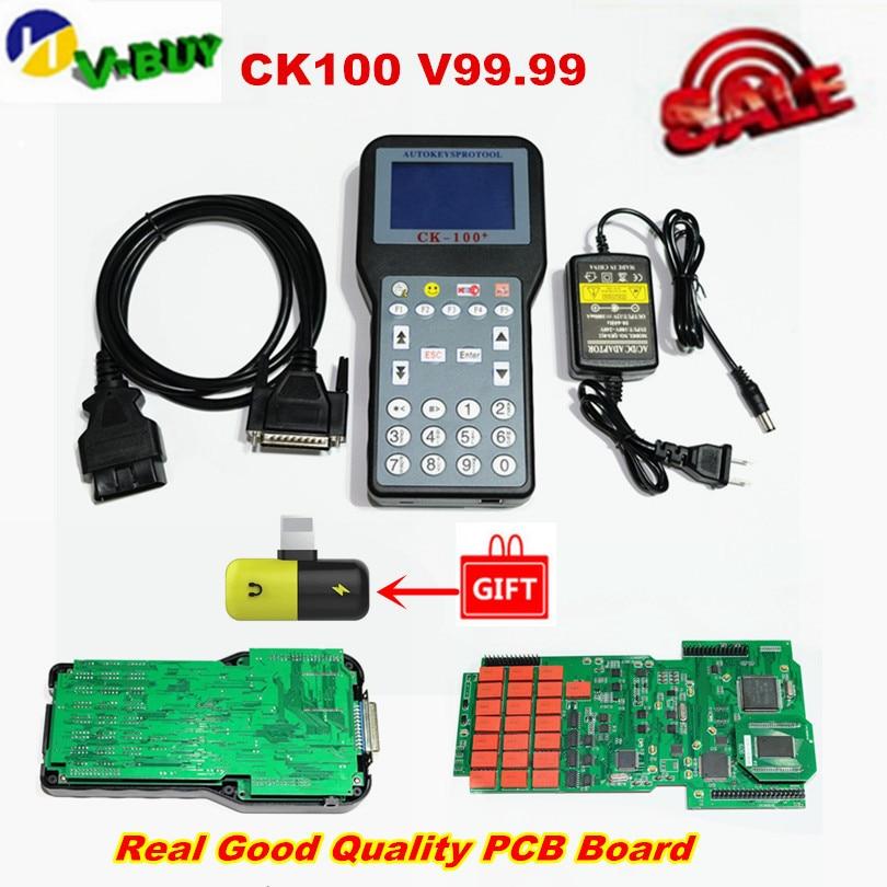 DHL Free Auto CK100 Key Programmer V99 99 Newest Generation SBB CK100 Key Maker CK 100