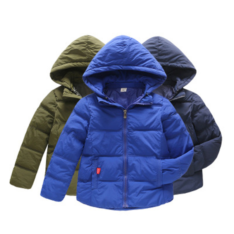 Kids Winter Jacket Clothing Girls Coat Hooded Teens Boys New Down for Warm