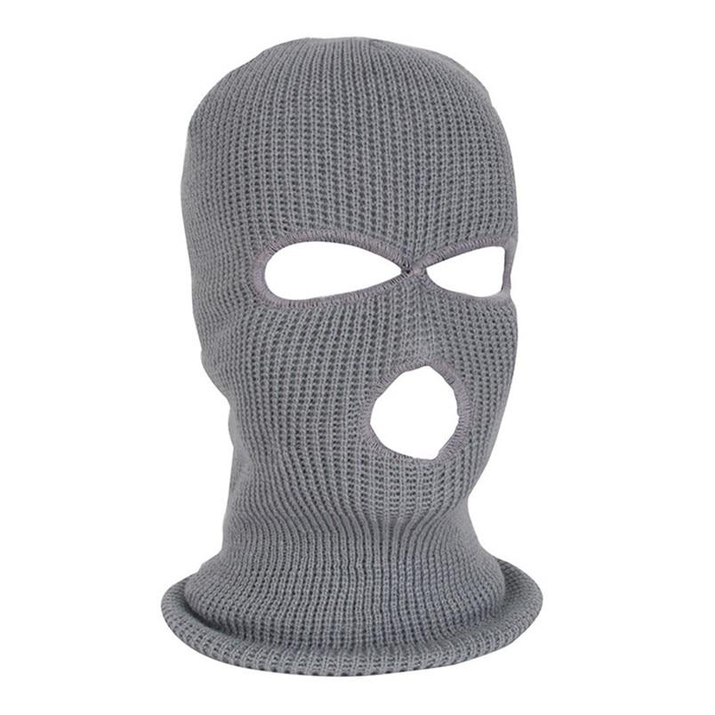 Full Face Mask Ski Mask Winter facemask Cap Balaclava Hood Army Tactical Mask 3 Hole cycling winter mask #4n26 (3)