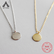 S925 sterling silver CHIC necklace minimalist geometric small round chain