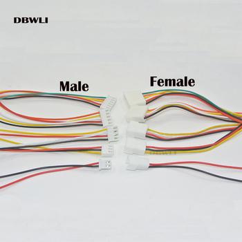 10 sztuk XH2 54 2 3 4 5 6 rozstaw pinów 2 54mm złącze kabla drutu XH wtyk męski i żeński kabel ładowania baterii 200MM długość 26AWG tanie i dobre opinie DBWLI
