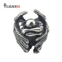 The Male Angel Beads Antique 925 Sterling Silver Charms Fit DIY Woman Original European Style Bracelet & Necklace Gift Jewelry