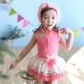 EL CCSME DHL Envío gratis sandía roja Elegante de la Flor de un hombro de una pieza del traje de baño del Beachwear del traje de Baño para Los Niños Del Bebé tutus