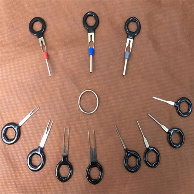 11 Pcs Automotive Plug Terminal Remove Tool Set Key Pin Car Electrical Wire Crimp Connector Extractor Kit Accessories