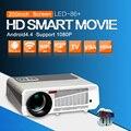 Android 4.4.2 Full HD LED Daytime Proyector 3600 lúmenes proyector LCD 3D Wifi Smart Proyector LED-86 Lámpara de cine de negocios Blanco