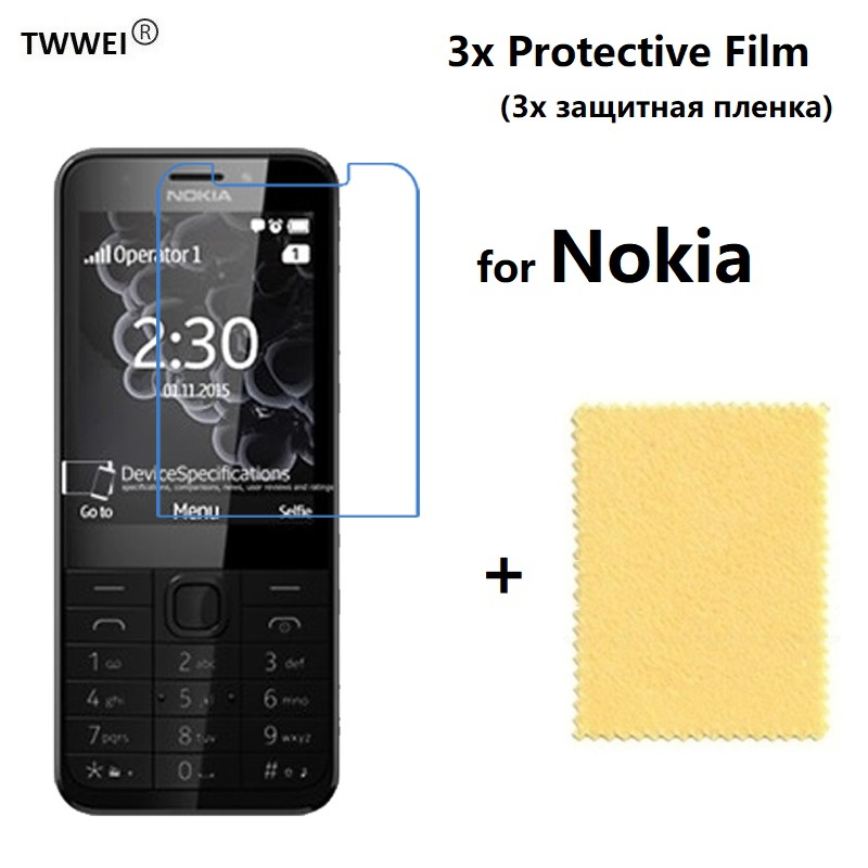 3x Protective Film for <font><b>Nokia</b></font> 230 225 <font><b>220</b></font> 215 216(Not Glass) Screen Protector for <font><b>Nokia</b></font> 3310 New 105 2017 Film Protect Cover Foil image