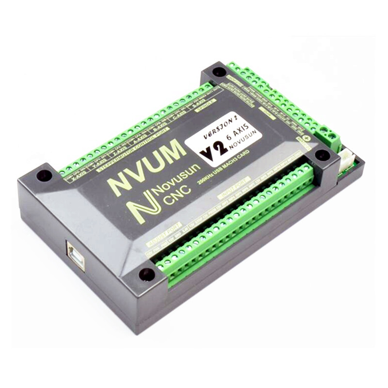 NVUM 4 Axis cnc engraver Mach3 USB Card 300KHz 3 4 6 Axis CNC drilling machine Motion Control Card Breakout Board 6040z usb 4 axis 1 5kw mini cnc engraver grinder duty free to ru