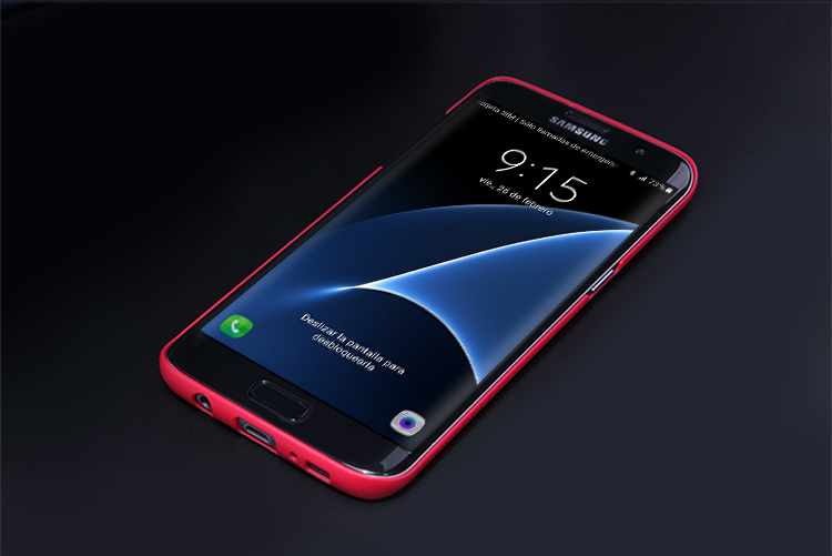 best sneakers 6ab9c 21db6 US $7.19 10% OFF|Nillkin Case +Clear Screen Protector for Samsung Galaxy S7  edge Duos G935 Frosted Shell Cover Shockproof Case Protective Shield-in ...