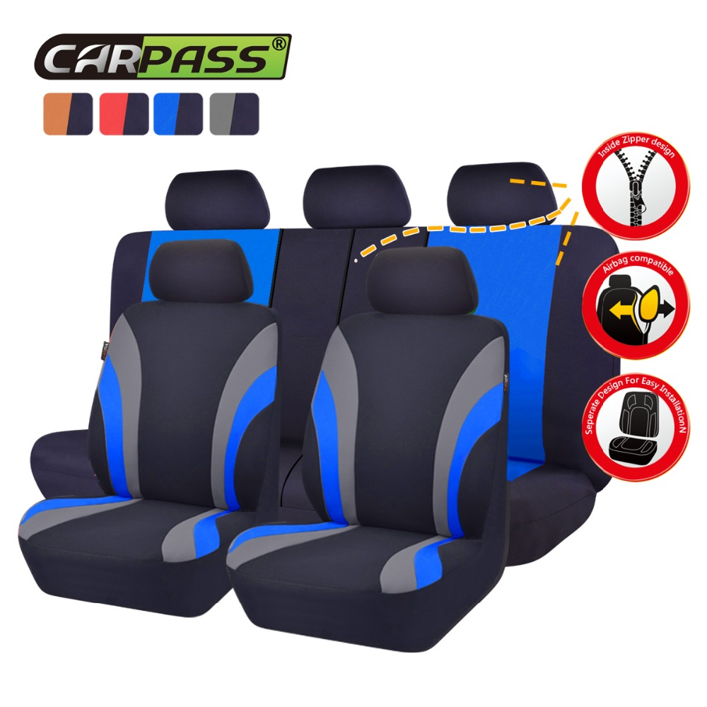 Car-pass Car Seat Covers Mesh Fabric Full Seats Luxury Auto Covers Universal Fit Most Car Seat Covers Ծածկարաններ Ավտոմեքենաների պարագաներ Nissan- ի համար