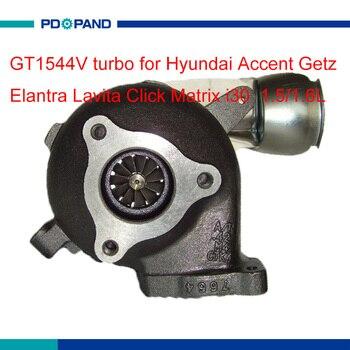 เครื่องยนต์ turbo ชุด GT1544V turbo charger supercharger 28201-2A400 สำหรับ Hyundai Matrix Getz Elantra Lavita คลิก Accent i30 1.5/1.6L