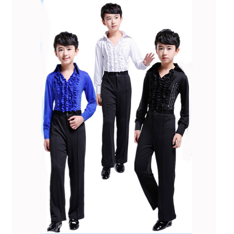 New Child Children Boy Latin Dancing For Boy Cha-Cha Class Kids Latin Costumes Sets Kid Boy Competition Latin Costumes For Boys