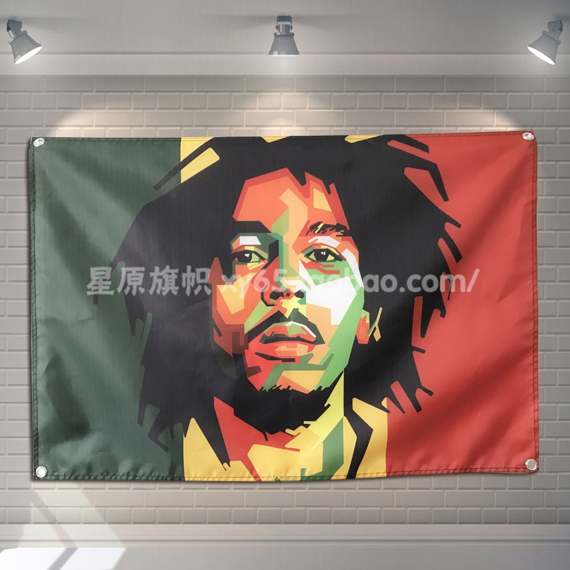 Bob Marley Banner Music Rock Band Reggae Jamaica Home Decoration Hanging flag 4 Gromments in Corners 3*5FT 144cm*96cm