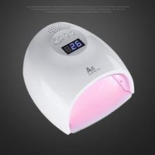 48W LED Secador de Lámpara de Uñas UV Curado de la Lámpara SUN 6A Luz Roja Para LED Gel UV Esmalte de Uñas Manicura de Uñas de Arte Pedicura Con Parte Inferior