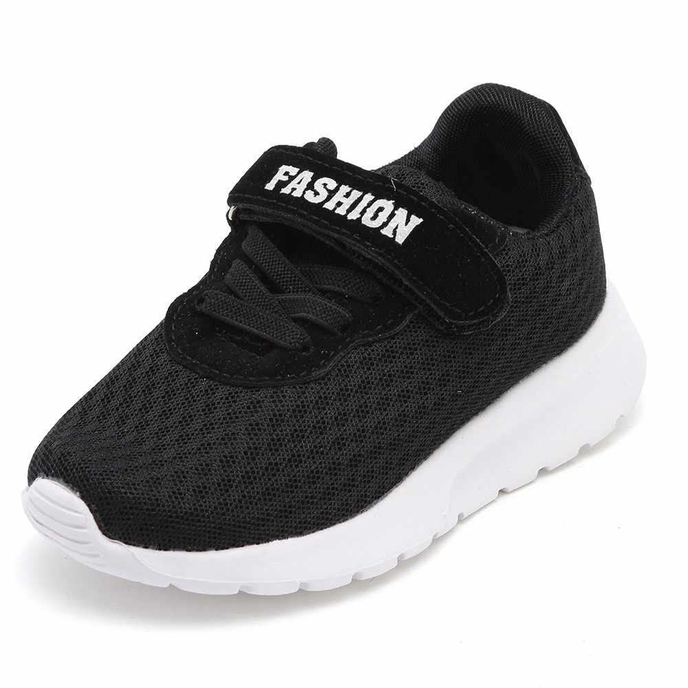 058e68d8f8473 MUQGEW Kid Baby Boys Girls Letter Sport Running Breathable Mesh Sneaker  Casual Shoes