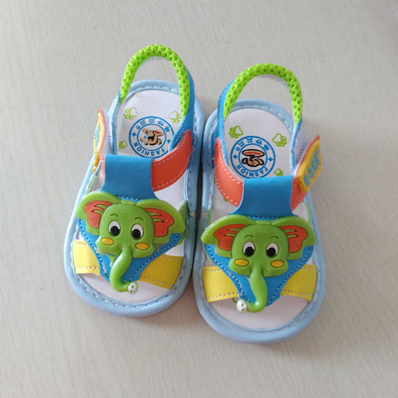 Retail Baby Boy Shoes Baby Girl's Sandals Elephant Pattern Summer Foot Wear