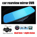 Dual Lens car Video Recorder for Vehicles Front and Rear Dvr 5.0 Inch Screen 1080P rear camera Included free shipping