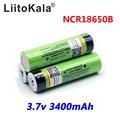 2018 liitokala 18650 3400 Battery 3400mAh 3.7V NCR18650B Rechargeable Li-ion Battery for Flashlight (NO PCB)