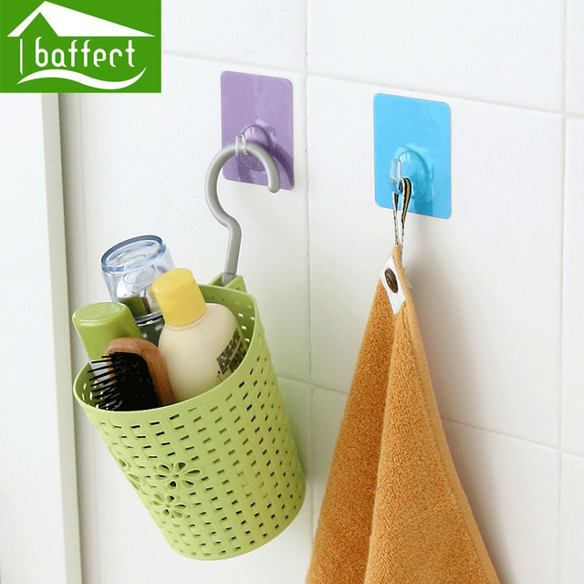2 unids/lote percheros sticky holder baño cocina ganchos de pared ...