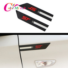 Auto ST Side Fender Sticker Fit voor Ford Focus 2 3 4 MK2 MK3 Fiesta Mondeo Escape Kuga EcoSport Explorer edge Fusion Accessoires(China)