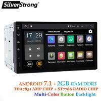 SilverStrong Android7.1 2Din Universal Car DVD GPS 2GB RAM Car Radio 2 din 7 inch car Stereo auto Radio Navi 2 varients